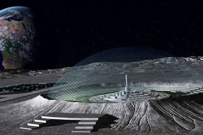 მთვარის კრატერში ბაზების განთავსების კონცეფცია
