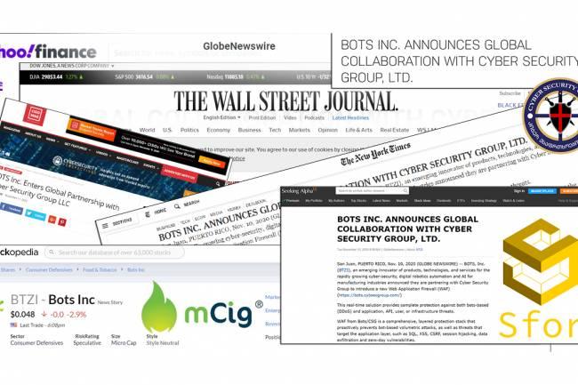Bots INC. & Cyber Security Group  | ქართული კომპანიის მორიგი წარმატება [Global Collaboration]