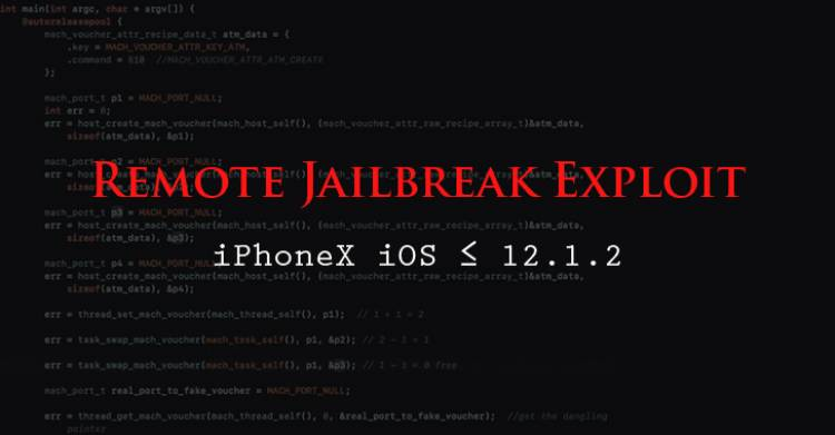 iOS - ზე  დისტანციური JailBreak დამტკიცდა